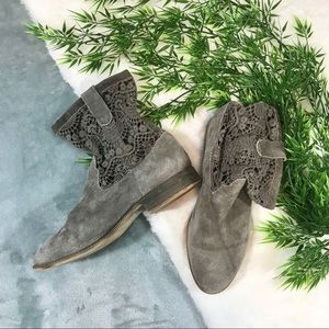 Lace Suede Booties
